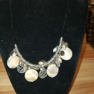 Chaps Mother of Pearl Accent Necklace